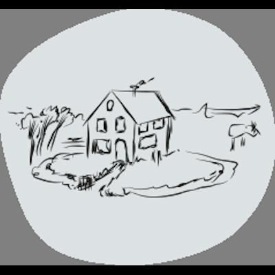 illustratie boerderijtje